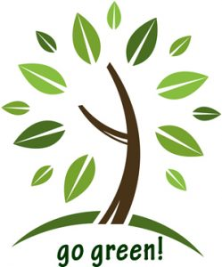 Tree illustration - Go Green!